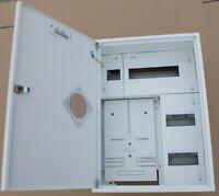 Sicherungskasten Zählerschrank Verteilerkasten 1x Zähler 1-Ph+24 Sicherungen