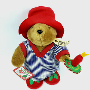 """Paddington Bear Christmas Plush 16"""" Holiday Kids Gifts Candle Pajamas Vintage"""