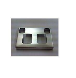 HPM XL BRUSHED ALUMINIUM MATT SILVER PLATE DOUBLE POWER POINT XL777PLMS