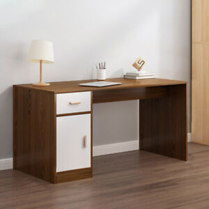 Small Computer Desk with Drawers Shelf Study PC Table Home Office Workstation UK