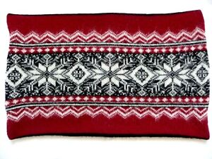 ICEWEAR Pillow Cover Sham 100% Wool Made in Iceland Black Red White Nordic Print
