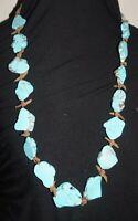 Turquoise Slab Necklace gorgeous piece