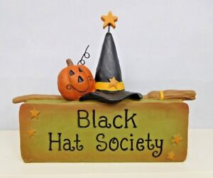 Black Hat Society Block with a Witch Hat - New block by Blossom Bucket #82533A