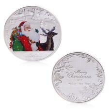 Merry Christmas Santa Claus Deer New Year Coin Commemorative Gift Souvenir