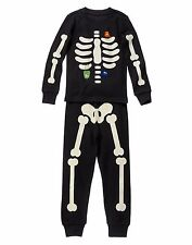 2015 GYMBOREE HALLOWEEN SHOP BOYS SKELETON TWO PIECE PJ'S PAJAMAS NWT BOYS 2T