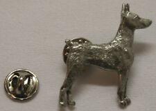 Doberman Pinscher Dog Fine Pewter Pin Jewelry Art Usa Made