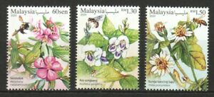 MALAYSIA 2020 WILD FLOWERS SERIES III COMP. SET OF 3 STAMPS IN MINT MNH UNUSED