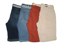 Gloria Vanderbilt Women's Mia Belted Bermuda Shorts Size 4 6 8 10 14 16 18 New