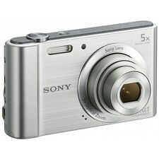 Sony Cybershot W800 - 20MP 5x Zoom Compact Digital Camera - Silver - NEW