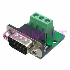 DB9 D-SUB VGA Male Adapter 3Pin RXD TXD GND signals Terminal Breakout ROHS nut