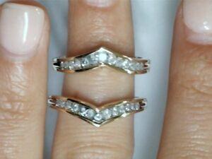 10k Yellow Gold Diamond Matching Bands 1163
