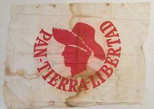 VINTAGE PPD / POLITICAL CLOTH FLAG / LUIS MUNOZ MARIN ERA / 1950's / PUERTO RICO