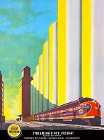 Great Western  Chicago  Illinois United States Travel Poster Advertisement