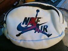 Nike Air Jordan White Fanny Pack Jumpman Logo Crossbody Waist Bag