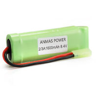 8.4V 1600mAh AnmasPower 2/3A NiMH Airsoft Flat Pack Rechargeable Battery Pack