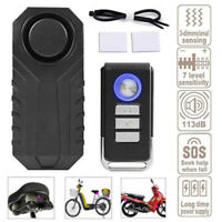 Alarm Padlock for 113dB Anti-Theft Remote Motorcycle Bicycle Bike Security Siren