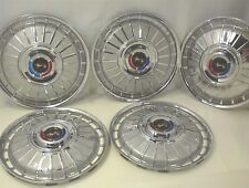 "1962 FORD HUBCAPS 14"" GALAXIE WHEEL COVERS SET OF 5"
