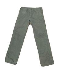 Prana Men's Olive Khakis Canvas Hiking Jeans Size 32 X 32