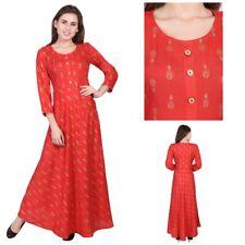 Ethnic Bollywood Anarkali Long Party Wear Floral Printed Button Kurta Kurti 8045