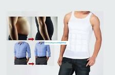 L AS Seen on TV, 1 Uomo Bianco Nylon Slim Fitness Gilet CORPO TONO RASSODANTE Pannelli