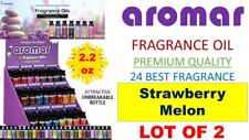 2 Aromar Aromatherapy Essential Fragrance 100% Concentrated Oil STRAWBERRY MELON
