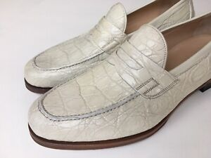 GUCCI White Crocodile Limited Ed. Penny Loafer Size 8 UK (8.5 US) $2300 NEW
