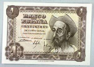 Ek // Billet 1 peseta  Espagne 1951 Miguel de Cervantes : UNC