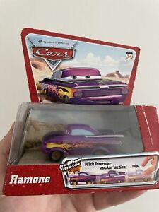 Disney Pixar Cars movie RAMONE PULL BACK Low rider Motorcar Car RARE BOXED NEW