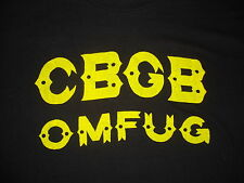 VINTAGE 70's CBGB C.B.G.B. PUNK ROCK ramones blondie talking heads T Shirt M