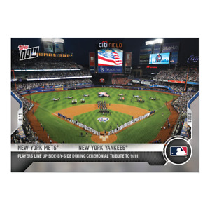 2021 TOPPS NOW #793 NY NEW YORK YANKEES METS CEREMONY TRIBUTE TO 9/11 PRESALE!