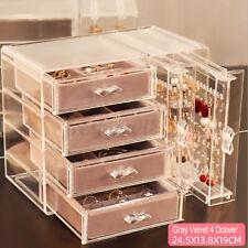 Acrylic 4drawers Cosmetic Makeup Holder Jewellery Earrings Organiser Storage