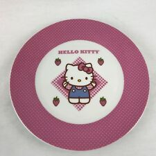 PPD Hello Kitty Plaid Plates Porcelain 8 Inches
