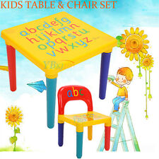 Kids Toddler Children Activity Playing ABC Alphabet Learn Table and Chair Set AU