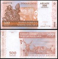 Madagaskar 500 Ariary. UNZ 2004 (2007) Banknote Kat# P.88b