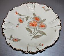 Sorau Carstens Porzellan Kuchenplatte elfenbeinfarben m. Blumen Dm 31,5 cm