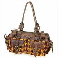 Dolce&Gabbana Shoulder bag Brown Yellow Wool leather Woman Authentic Used S935