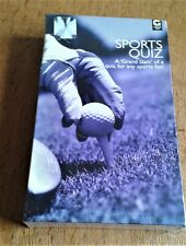 """SPORTS QUIZ  A """"GRAND SLAM"""" OF A QUIZ GAME.  FAMILY FUN GAME. SEALED AND  NEW"""