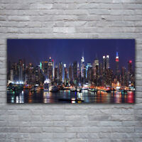 Canvas print Wall art on 120x60 Image Picture Skyscraper City Houses