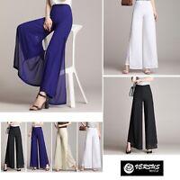 Pantaloni Donna Larghi Leggeri Doppio Velo Eleganti Woman Trousers TRA028