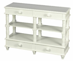 NEW! White Laurent Wooden 18 Inch Doll Side Console Table, Fits American Girl