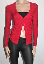 TARGET Brand Red Geo Pattern V Neck Cardigan Size 8 BNWT #TG34