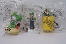 Lot 3 jouet NEUF Mc Donald's NINTENDO MARIO Bross Luigi & Yoshi mc do mcdonald