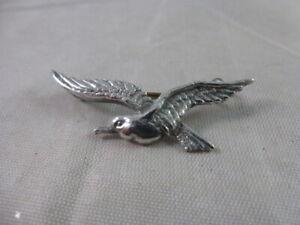 """Vintage Sterling Silver Flying Bird Brooch 1 1/2"""" wingspan 4 grams"""
