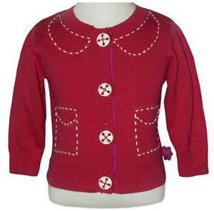 BNWT Baby Toddler Girls Red Cardigan Winter Jacket - Size 0 1