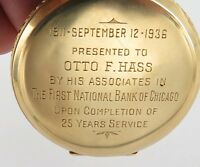 .1927 14K GOLD / RARE ONLY 6,300 MADE / WALTHAM MAXIMUS 23J PRESENTATION P/WATCH