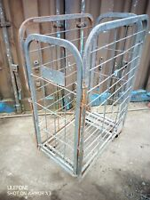 More details for metal wheeled foldable 4 sided caged trolley 14