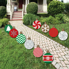 Ornaments Lawn Decorations - Outdoor Holiday and Christmas Yard Decor - 10 Ct