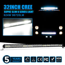 32inch Single Row CREE LED Work Light Bar Spot Flood Truck Offroad Ford Jeep 30""