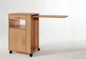 Nachttisch Hermann mit Bett-Tischplatte Burmeier, Buche Dekor, Pflegebetttisch