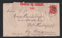 South West Africa 1916 KGV WWI Censored Windhoek Local Post Cover WS13290